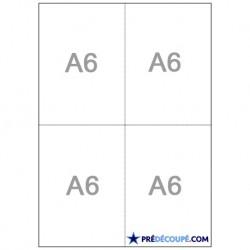 Feuilles A4 prédécoupé 4 coupons A6 (105x148,5mm)
