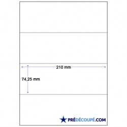 Feuilles A4 prédécoupées 4 coupons (74x210mm)