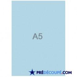 Feuilles A5 vierges Bleu Alizé