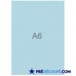 Feuilles A6 vierges Bleu Alizé