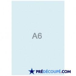 Feuilles A6 vierges Bleu Vif
