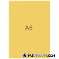 Feuilles A6 vierges Gold