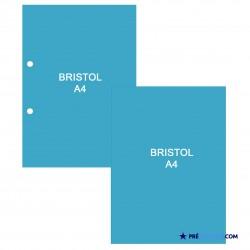 Fiches Bristol A4 Bleu Turquoise
