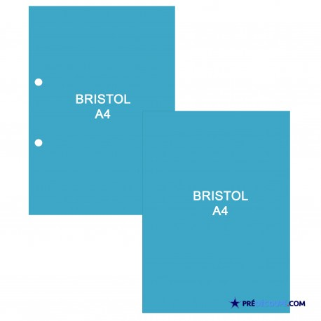 A4 Bristol Note Cards - Turquoise