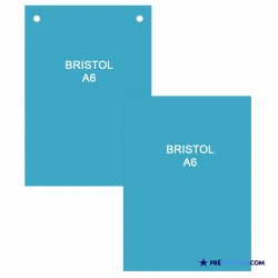 A6 Bristol Note Cards - Turquoise