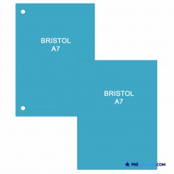 Fiches Bristol A7 Bleu Turquoise