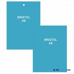 Fiches Bristol A8 Bleu Turquoise