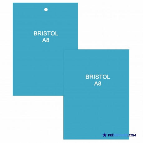 A8 Bristol Note Cards - Turquoise