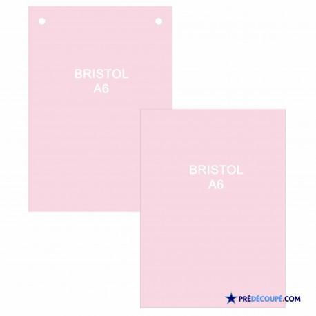A6 Bristol Note Cards - Light Pink