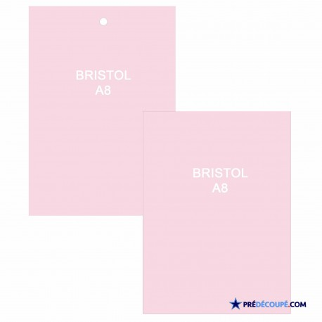 A8 Bristol Note Cards - Light Pink