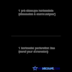 Feuilles A4 avec une perforation horizontale sur mesure