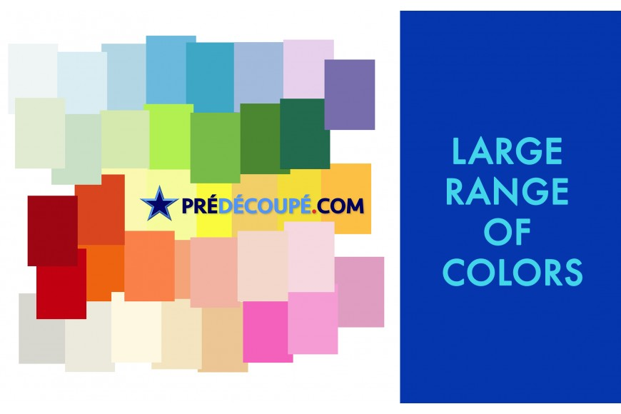 predecoupe.com : Unique ! a wide color variation choice for our papers.